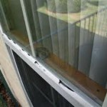 Hail damaged glazing bead
